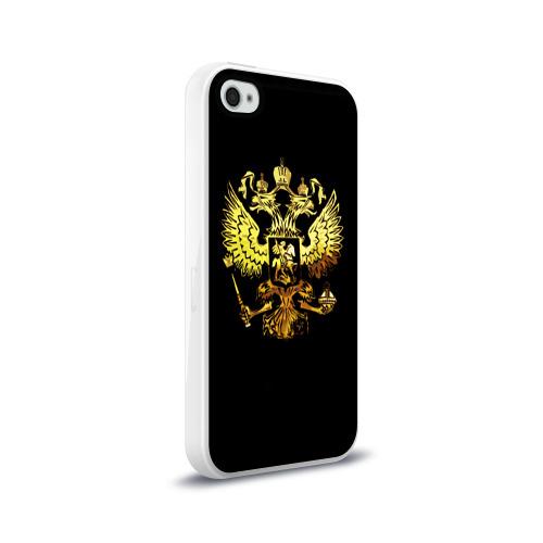 Чехол для Apple iPhone 4/4S силиконовый глянцевый  Фото 02, Герб России (Art)