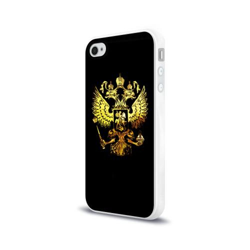 Чехол для Apple iPhone 4/4S силиконовый глянцевый  Фото 03, Герб России (Art)