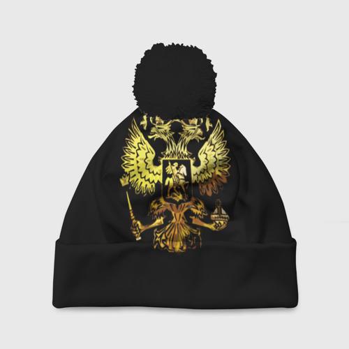 Шапка 3D c помпоном Герб России (Art)