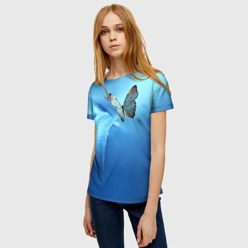 Женская футболка 3D Бабочка 2 Фото 01