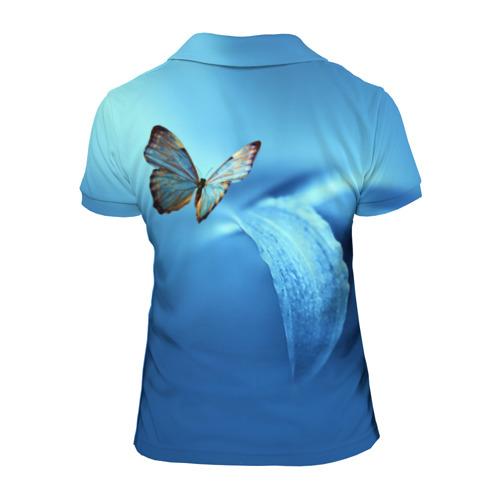 Женская рубашка поло 3D  Фото 02, Бабочка 2