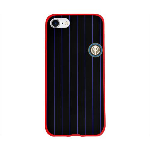 """Чехол для Apple iPhone 8 силиконовый глянцевый Команда \""""Интер\"""" Фото 01"""