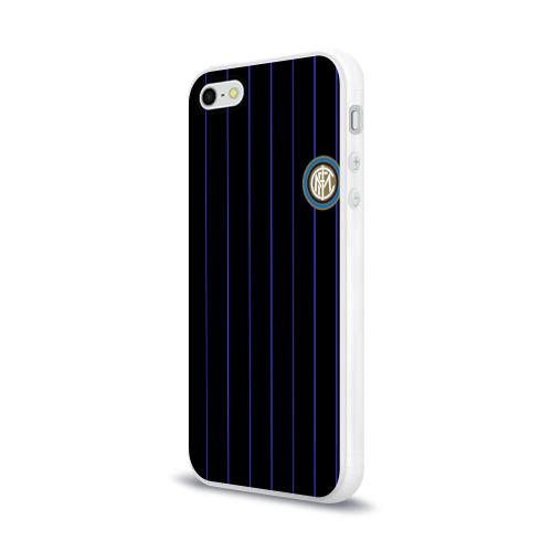 """Чехол для Apple iPhone 5/5S силиконовый глянцевый Команда \""""Интер\"""" Фото 01"""