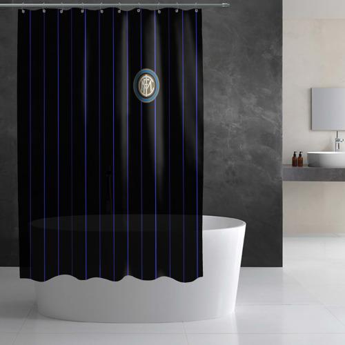 """Штора 3D для ванной Команда \""""Интер\"""" Фото 01"""