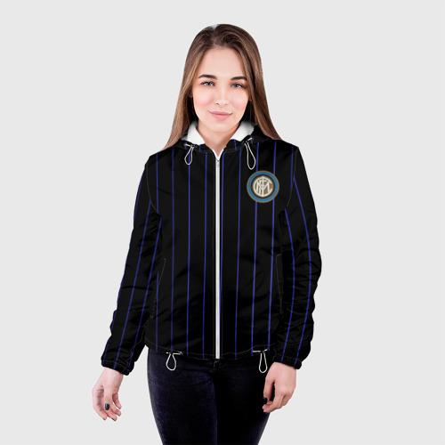 "Женская куртка 3D Команда \""Интер\"" Фото 01"