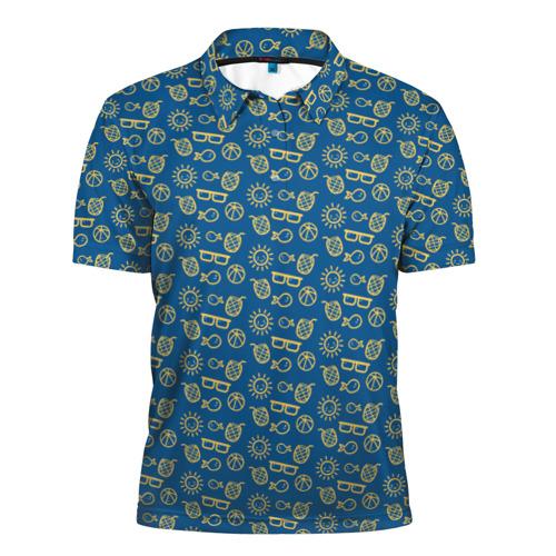 Мужская рубашка поло 3D  Фото 01, Лето