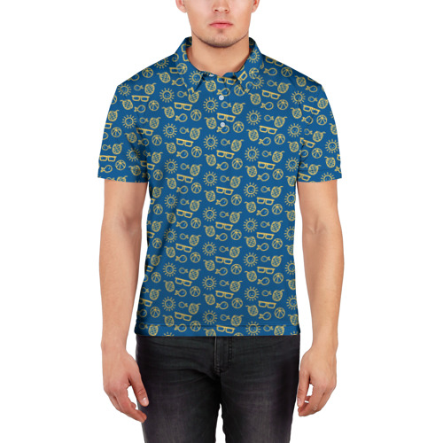 Мужская рубашка поло 3D  Фото 03, Лето