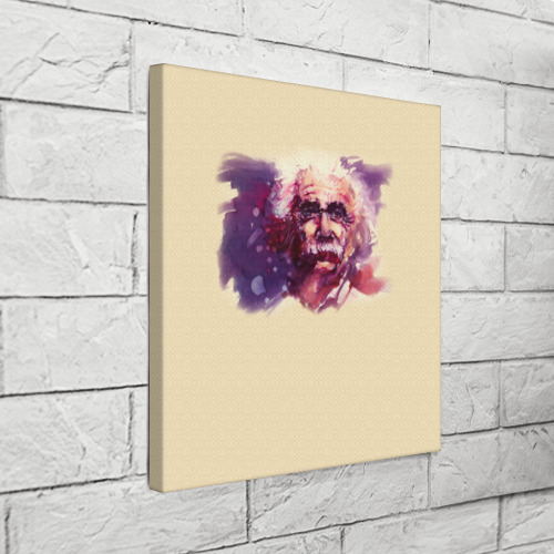 Холст квадратный  Фото 03, Альберт Эйнштейн (Art)