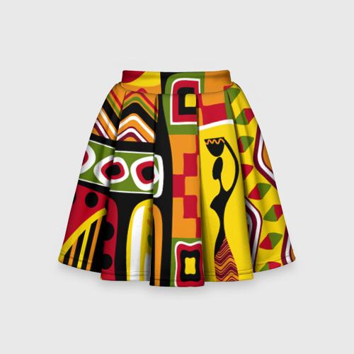 Детская юбка-солнце 3D Африка