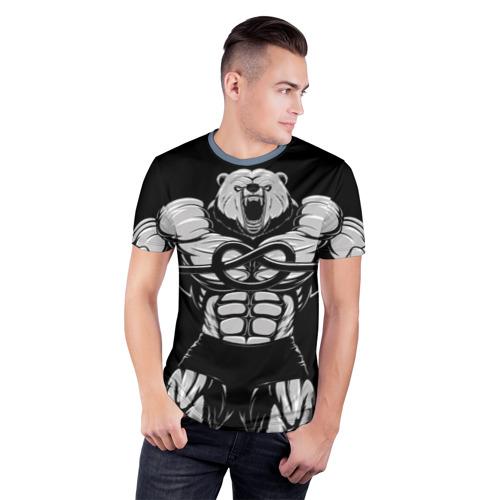 Мужская футболка 3D спортивная Strongman Фото 01