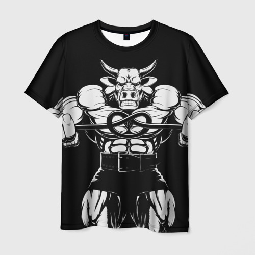 Мужская футболка 3D Strongman Фото 01