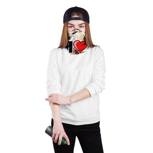 Бандана-труба 3D  Фото 02, Я люблю
