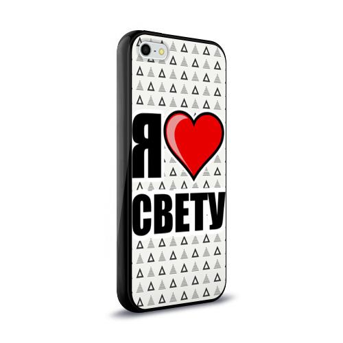 Чехол для Apple iPhone 5/5S силиконовый глянцевый Я люблю Фото 01