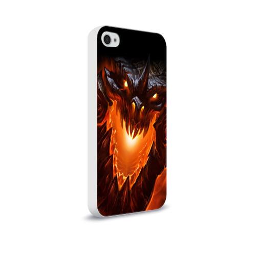Чехол для Apple iPhone 4/4S soft-touch  Фото 02, Огнедышащий дракон