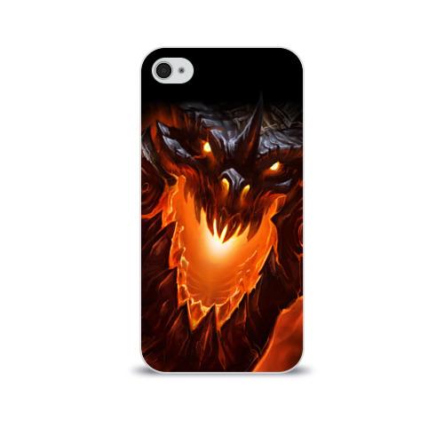Чехол для Apple iPhone 4/4S soft-touch  Фото 01, Огнедышащий дракон