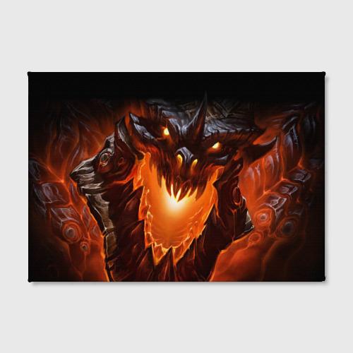 Холст прямоугольный  Фото 02, Огнедышащий дракон