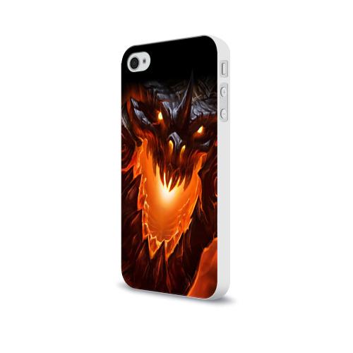 Чехол для Apple iPhone 4/4S soft-touch  Фото 03, Огнедышащий дракон