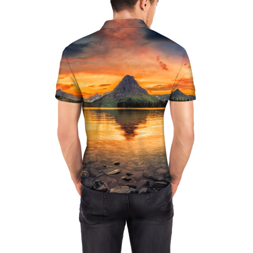 Мужская рубашка поло 3D  Фото 04, Гора