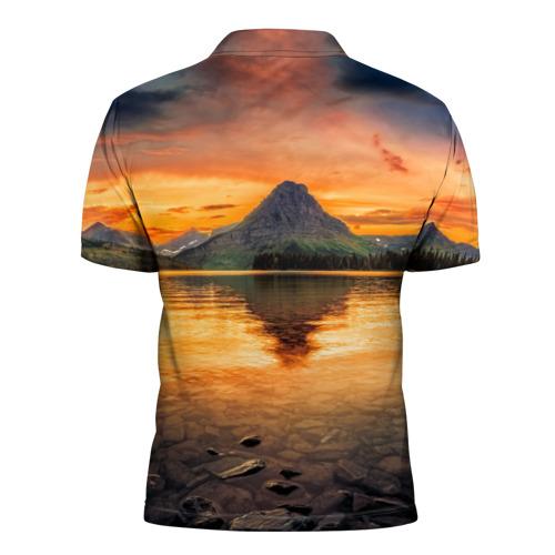 Мужская рубашка поло 3D  Фото 02, Гора
