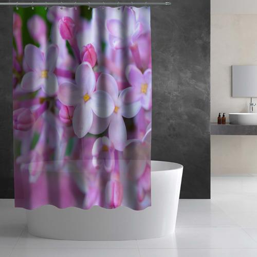 Штора 3D для ванной Сирень Фото 01