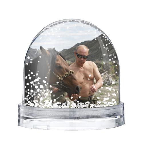 Водяной шар со снегом  Фото 01, Путин с конем