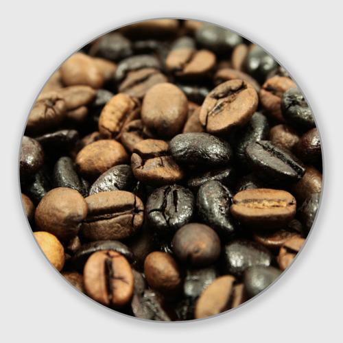 Коврик для мышки круглый  Фото 01, зерна кофе