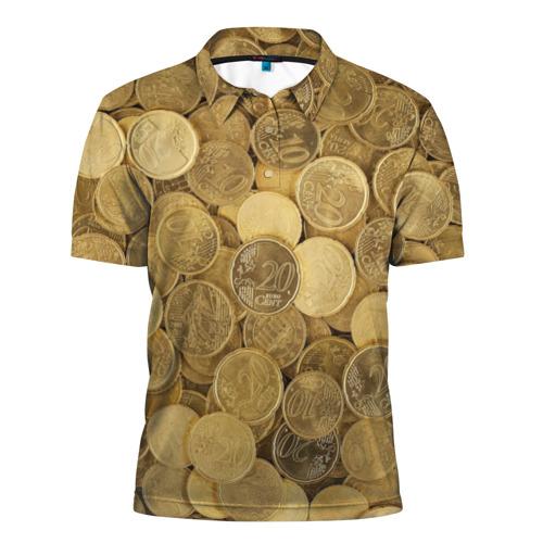 Мужская рубашка поло 3D монетки