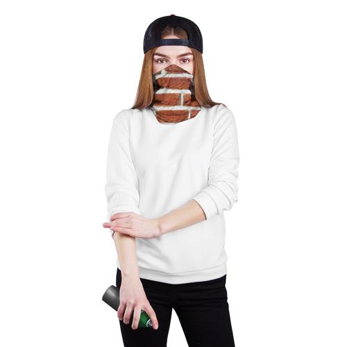 Бандана-труба 3D  Фото 02, старая кирпичная стена