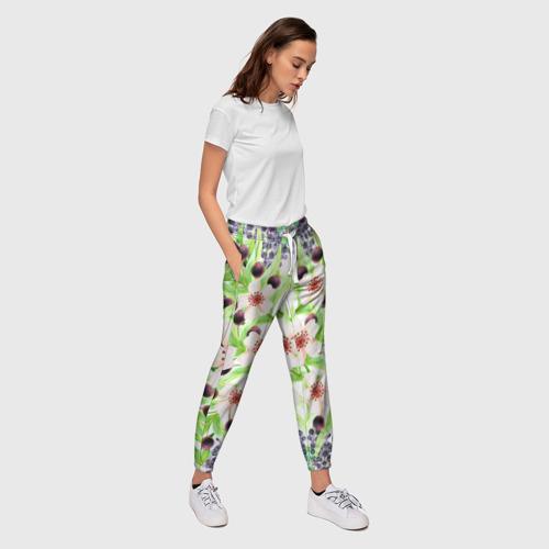 Женские брюки 3D  Фото 03, цветочный принт