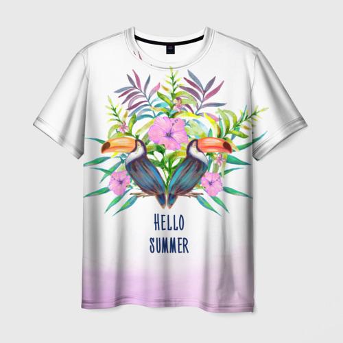 Мужская футболка 3D  Фото 01, цветочный принт