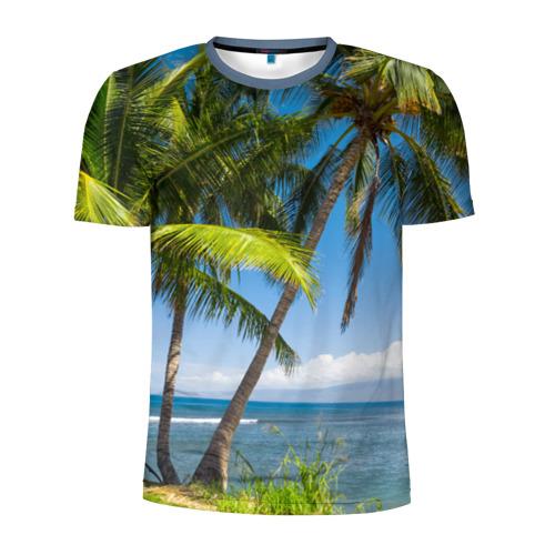 Мужская футболка 3D спортивная Пальмы