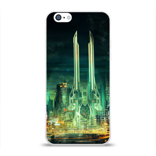 Чехол для Apple iPhone 6 силиконовый глянцевый Град