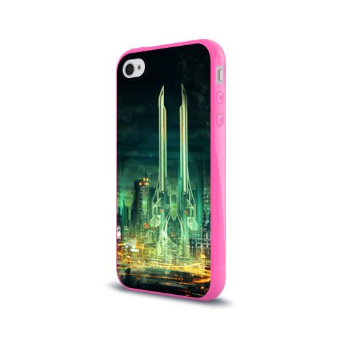 Чехол для Apple iPhone 4/4S силиконовый глянцевый Град Фото 01
