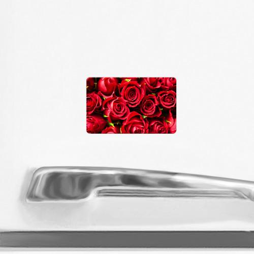 Магнит виниловый Visa  Фото 02, Розы