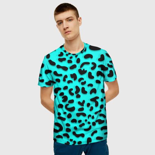 Мужская футболка 3D Леопард Фото 01