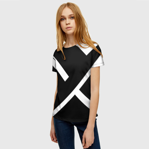 Женская футболка 3D Black and White Фото 01