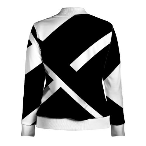 Женская олимпийка 3D Black and White Фото 01