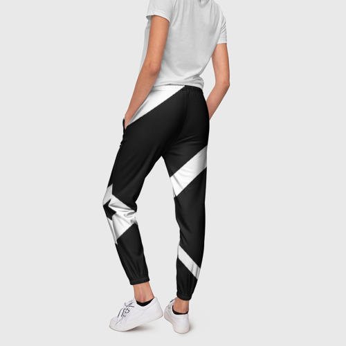 Женские брюки 3D Black and White Фото 01