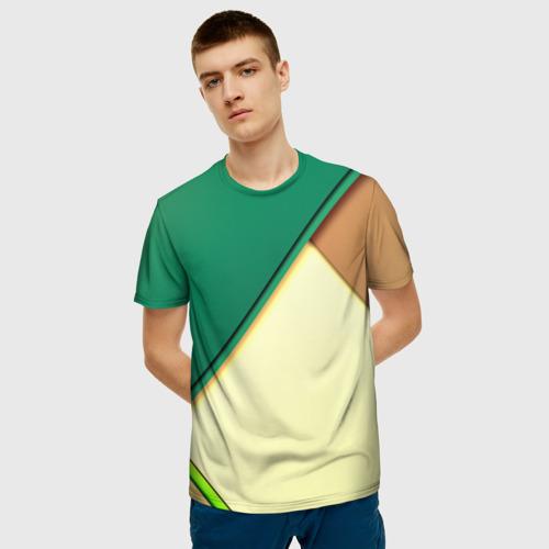 Мужская футболка 3D Material color Фото 01