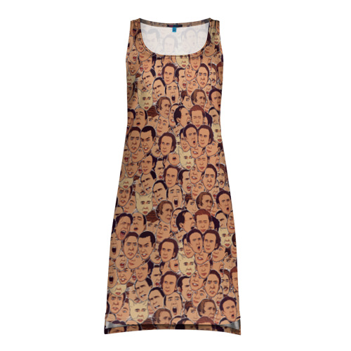 Платье-майка 3D Николас Кейдж