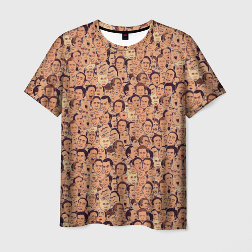 Мужская футболка 3D Николас Кейдж