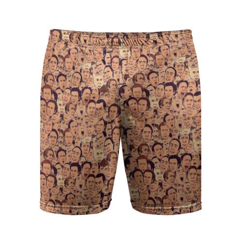 Мужские шорты 3D спортивные Николас Кейдж