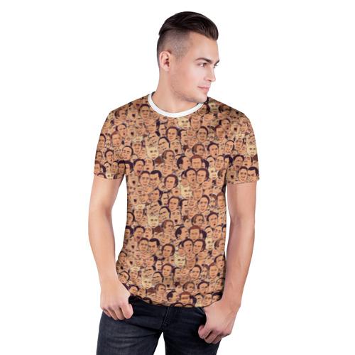 Мужская футболка 3D спортивная  Фото 03, Николас Кейдж