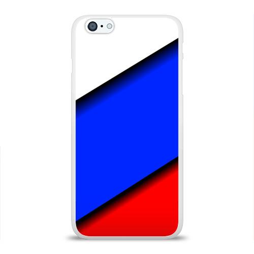 Чехол для Apple iPhone 6Plus/6SPlus силиконовый глянцевый  Фото 01, Российский флаг