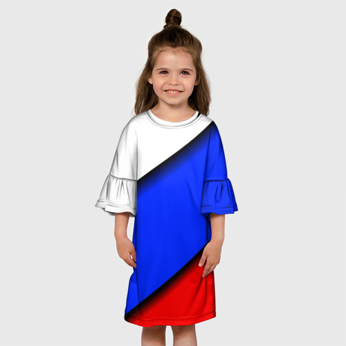 Детское платье 3D  Фото 01, Российский флаг