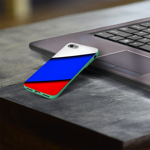 Чехол для Apple iPhone 8 силиконовый глянцевый Российский флаг Фото 01