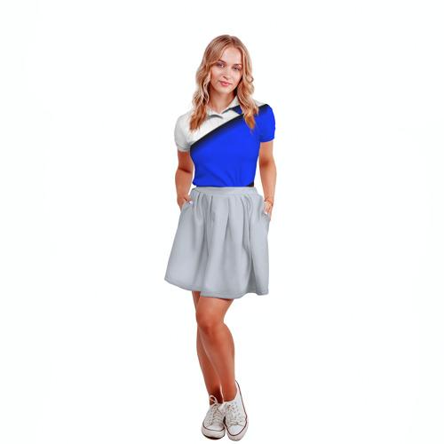 Женская рубашка поло 3D  Фото 04, Российский флаг