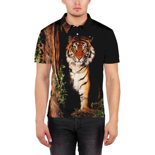 Мужская рубашка поло 3D  Фото 03, Тигр