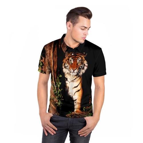 Мужская рубашка поло 3D  Фото 05, Тигр