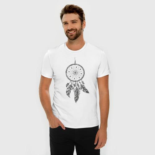 Мужская футболка премиум  Фото 03, Ловец снов (серый)
